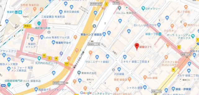 銀座ロフト地図
